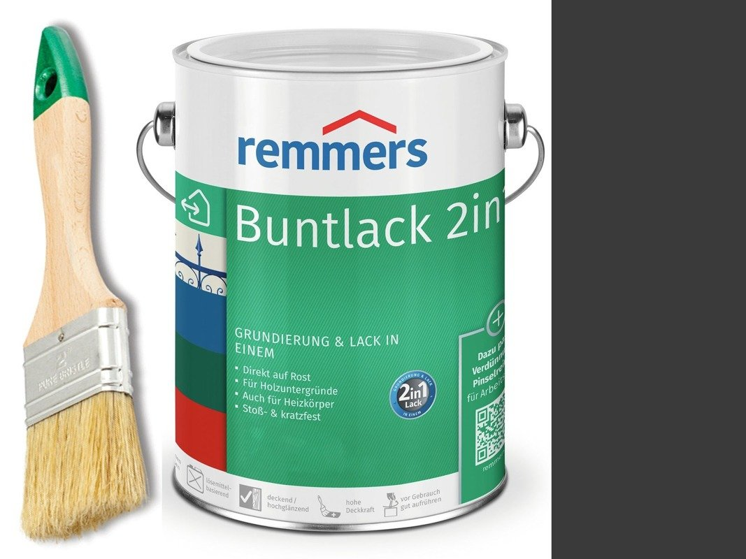 Farba renowacyjna grzejnik Remmers CZARNA 0,75 L