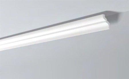 LISTWY PRZYSUFITOWE Białe NOMASTYL C 80x65mm