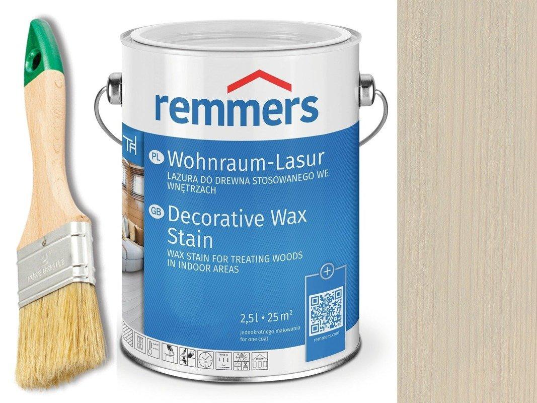 Lazura woskowa Remmers do wnętrz 0,75 L SZARY