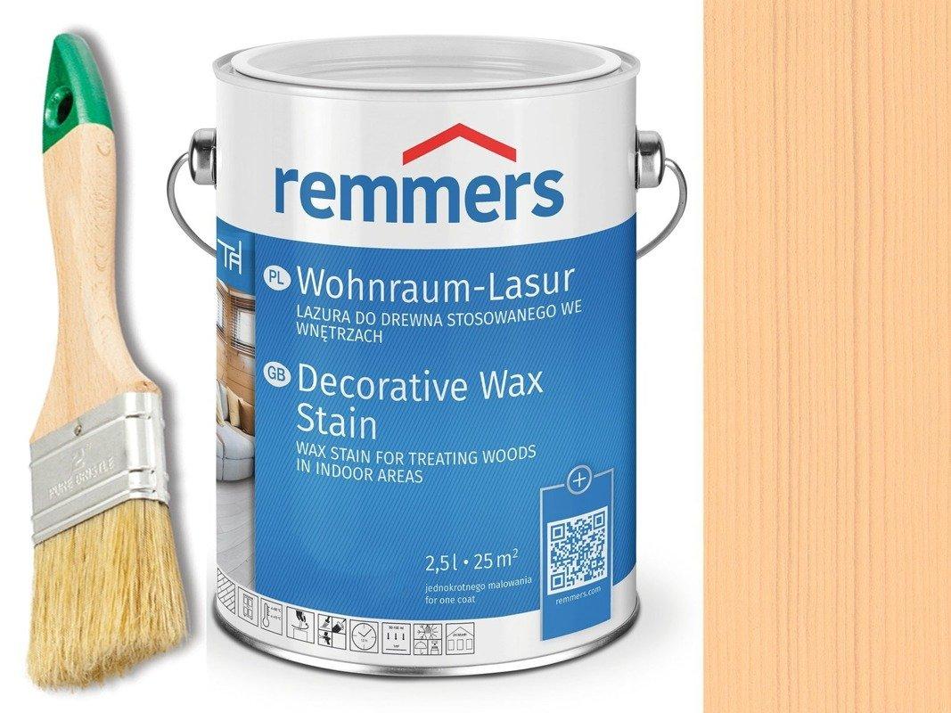 Lazura woskowa Remmers do wnętrz 2,5 L BRZOZA